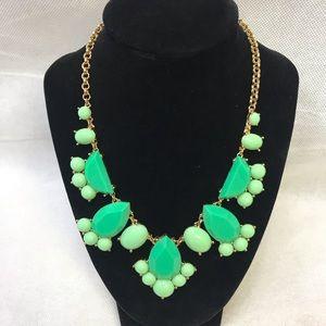 Kate Spade Statement Green & Gold Bib Necklace